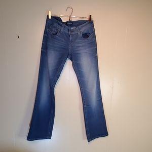 UGS Acid Wash Low Waist Blue Jeans